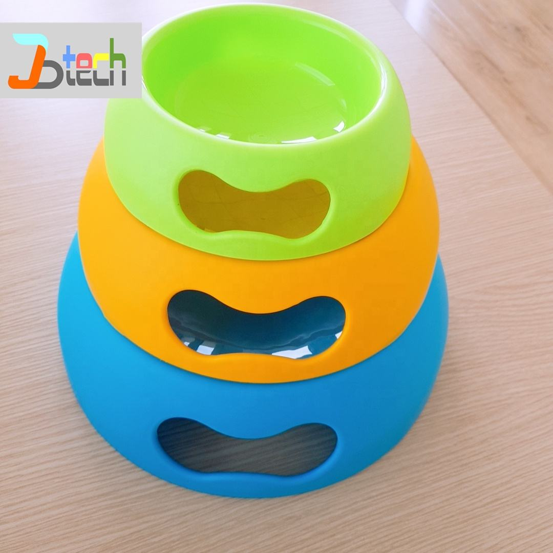 Colorful bright color pet bowls dog bowl frosted dog feedings eco friendly food grade plastic for cat china manufacturer factory