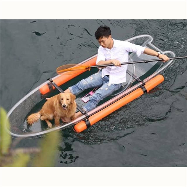 2020 Newest cheap plastic transparent single seat kayaks