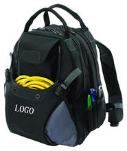 Wholesale Electrician toolkit 41 Pockets Inside and 7 Pockets Outside Customized Portable Polyester Backpack Tool Bag