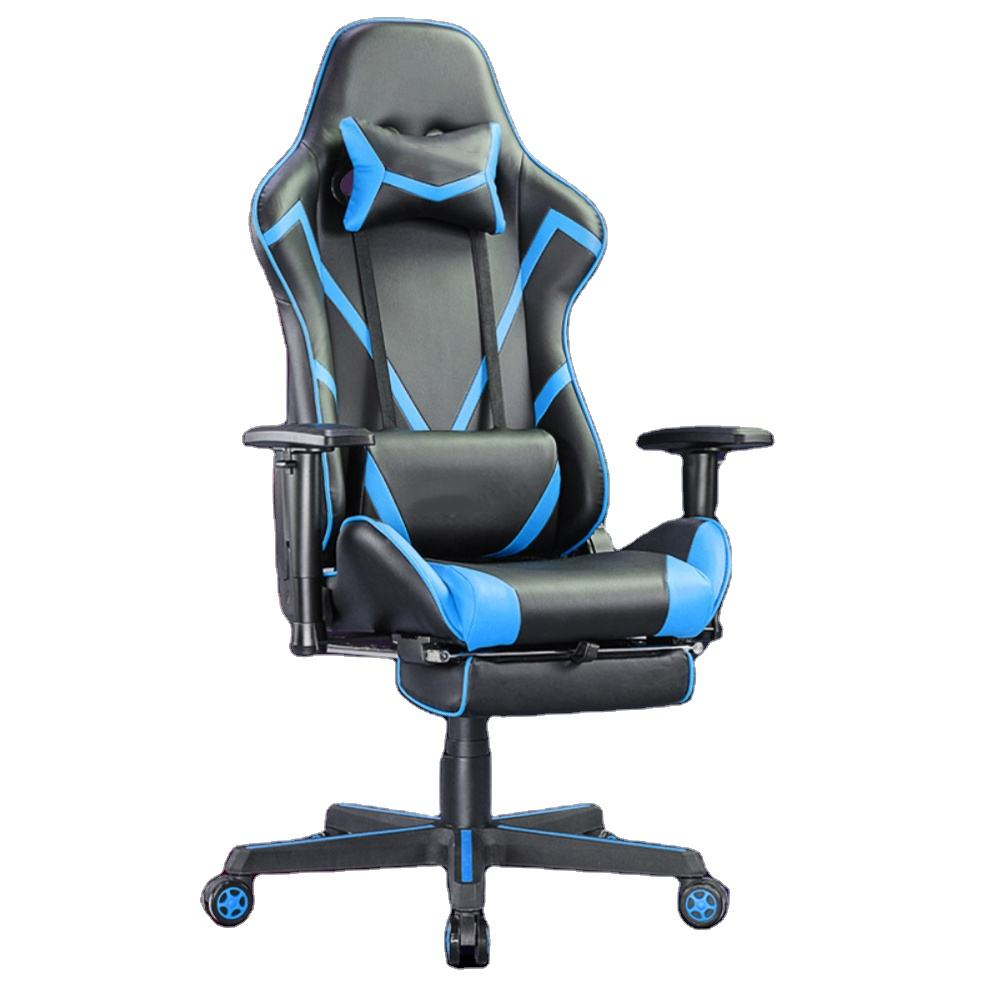 Adjustable colorful design fabric pillow reclining black PC customize embroidery logo gamer racing style office computer chair