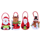 Holiday Fun Xmas Decor Decorations Bag Decorative Christmas Bags for Stockings Santa Snowman Reindeer