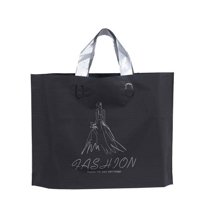 T Shirt Plastic Custom Packing Soft Loop Handle Shopping Garment Recycle Pe Bag with Your Own Logo