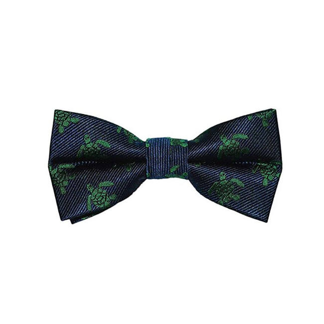 factory price 100% Polyester Jacquard Turtle pattern Bowtie 4 colors