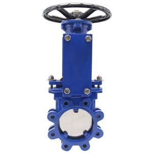 Bundor Rising Stem Flange lug knife gate valve price list 4 PZ41X-16C knife gate valve