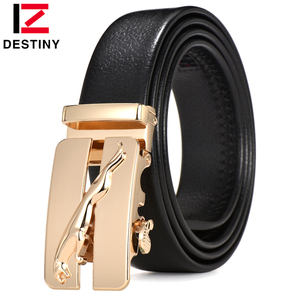 Gold silver Leopard Automatic buckle Pvc Fashion Luxury Brand Designer Men Leather Belts