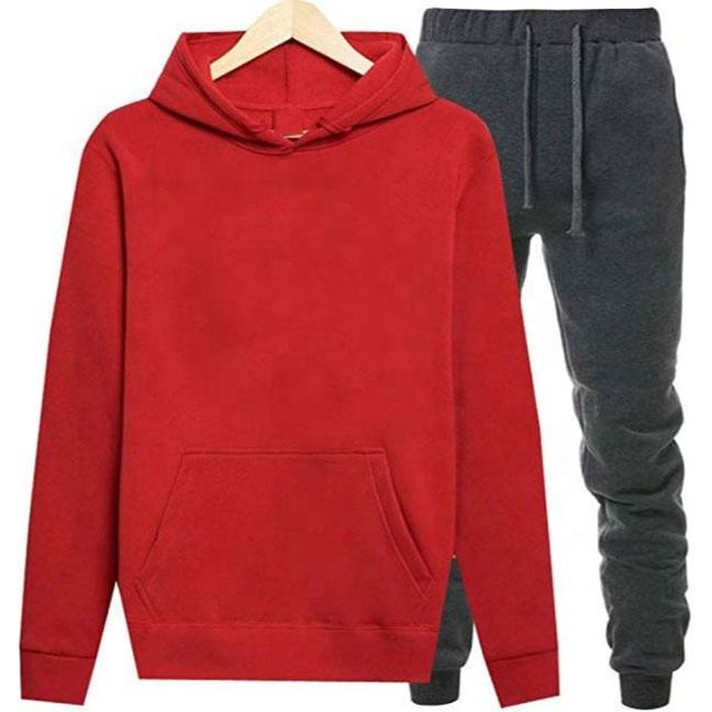 Fashion Red l fleece training Tracksuit for mens