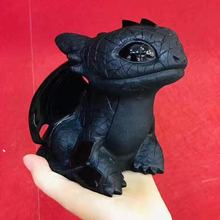 Hot Sale Natural Crystal Carved Fury Toothless Black Obsidian Healing Stone How To Train Your Dragon For Gift