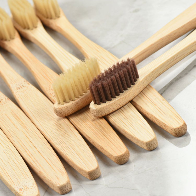 Fda approved bamboo toothbrush customized fancy