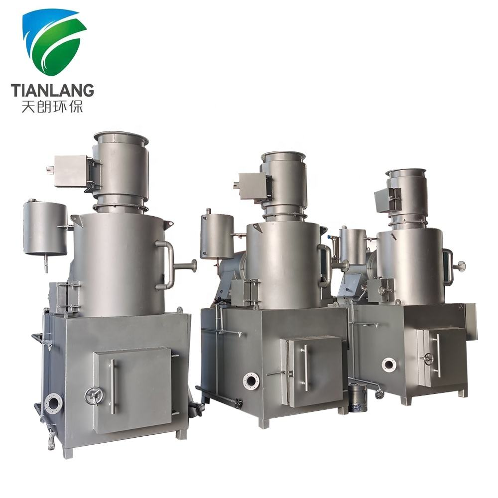 Smokeless medical waste treatment incinerator, medical and clinic garbage disposal incinerator