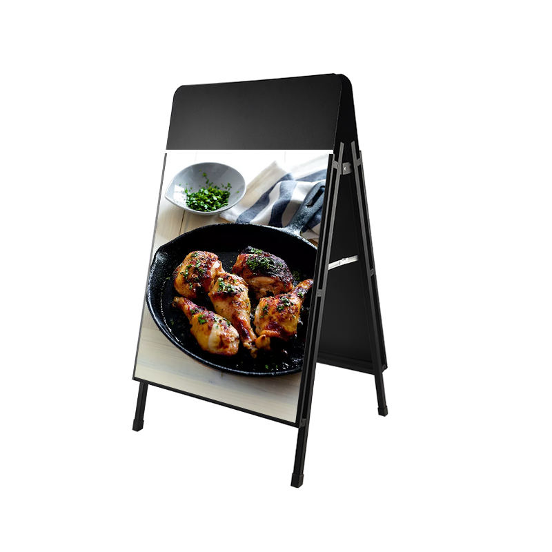 Custom High Quality Outdoor Cafe A-board Poster Stand For Retail Store
