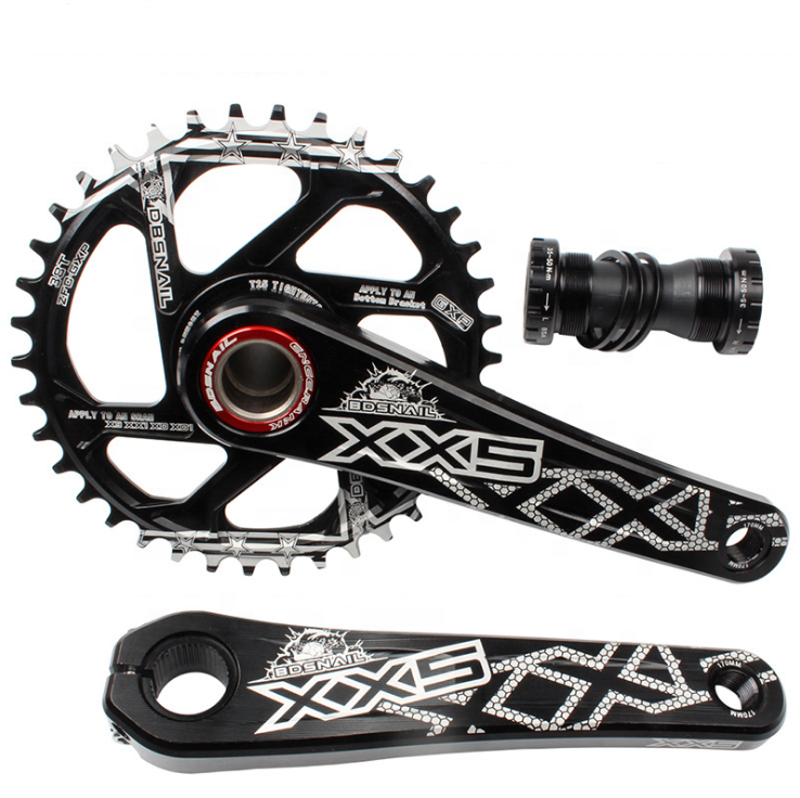 Mtb Bike CrankSet With Bottom Bracket Chain Wheel 104 BCD Crank Set Connecting Rods For Bicycle Parts Hollowtech Power Meter