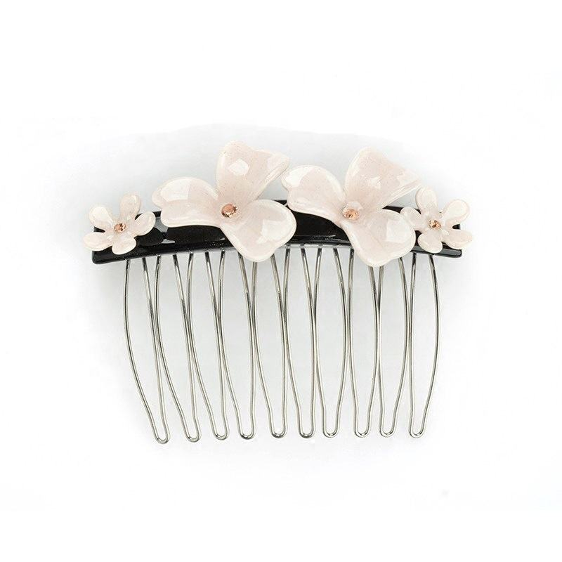 Mini Hair Comb Professional Acetate Hair Combs Luxury Floral Hair Comb