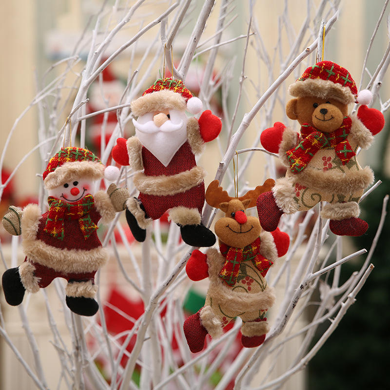 New Merry Christmas Ornaments Christmas Gift Santa Claus Snowman Tree Toy Doll Hang Decorations
