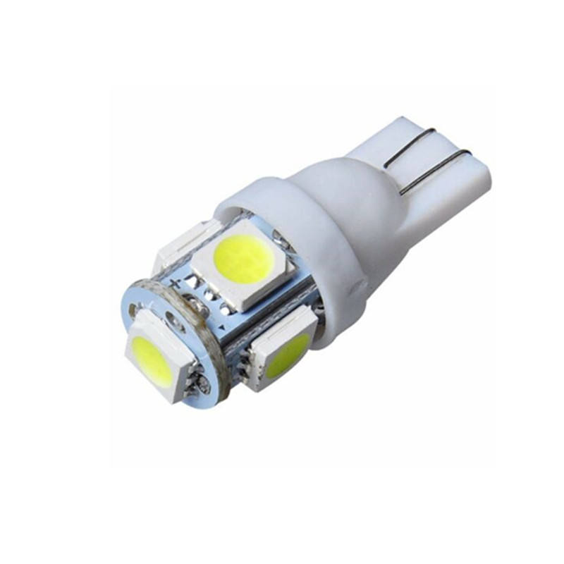 T10 5050 5SMD Car LED interior Lights LED Bulbs Auto W5W 158 192 168 194 501 T10 LED interior wedge light bulbs