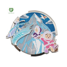 Fantastic pin - Frozen tale sery pin Princess Elsa, with glitter,pin on pin