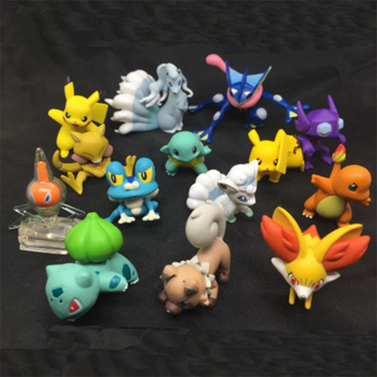Custom Groothandel Leuke Japanse Anime Pokemon Mini Pvc Action Figure Model Speelgoed Poppen