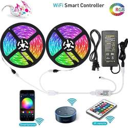 32.8FT Tuya Music Color Changing LED Lights Strip WiFi 10M 3