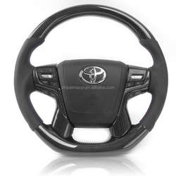 For Toyota Carbon Fiber Steering Wheel Replaces Prado Crown Alphad Land Cruiser Custom Configuration Land FJ200 2016-202