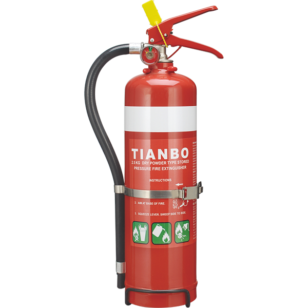 2.5KG ABC Dry Powder Mini Fire Extinguisher for Car Use with LPCB CE EN3 BSI AS/NZS Approved A B E Fire Rating