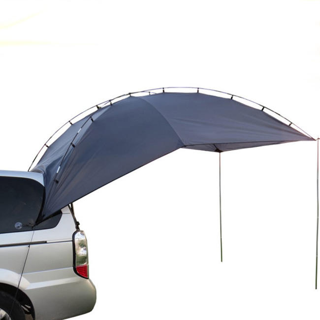 Car tent for outdoor self driving, barbecue, camping and sun shading