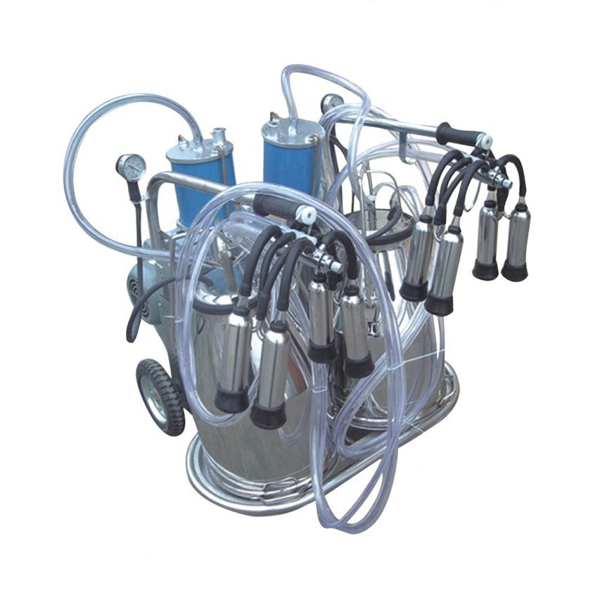 Factory Direct Cheap hand operated piston double milking machine for cow for sale Y-002