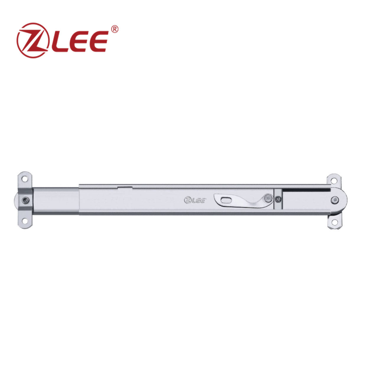 Single-point telescopic window hinge for awning hopper window