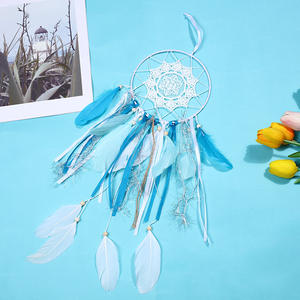 Indian Wholesale Handmade Wall Hangings Dream Catcher with Feather Decoration