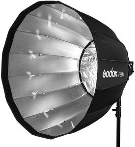 Godox P90H High Temperature Resistant 90cm Deep Parabolic Softbox with Bowens Mount for Studio Video Flash Light