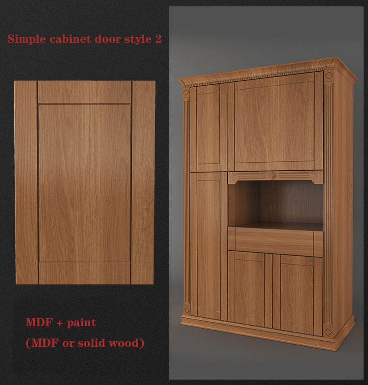 Customized furniture wooden kitchen cabinet glass door / plywood door / MDF door Paint cabinet door
