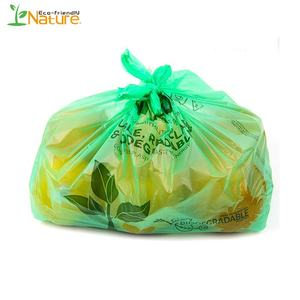 Newest Bio Compost Corn Starch T Shirt Bag Compostable Shopping Bag