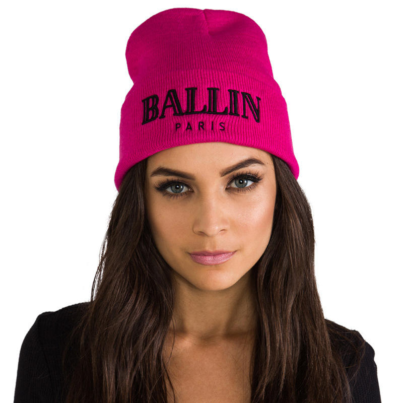 Ballin Zwart En Hot Pink Winter Oem Beanie
