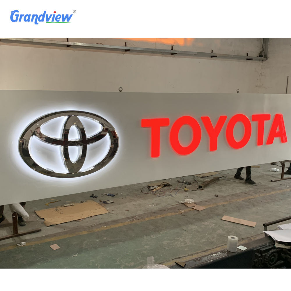 Advertising Outdoor Sign Hot Sales Outdoor Advertising Letter Acrylic Led Light Letter Sign Of Brand