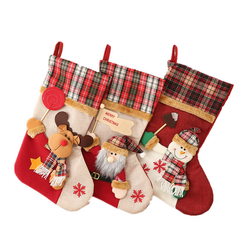 Christmas Santa Stocking Tree Ornament Hanging Decorations Party Gift Bag Socks Biggest Size