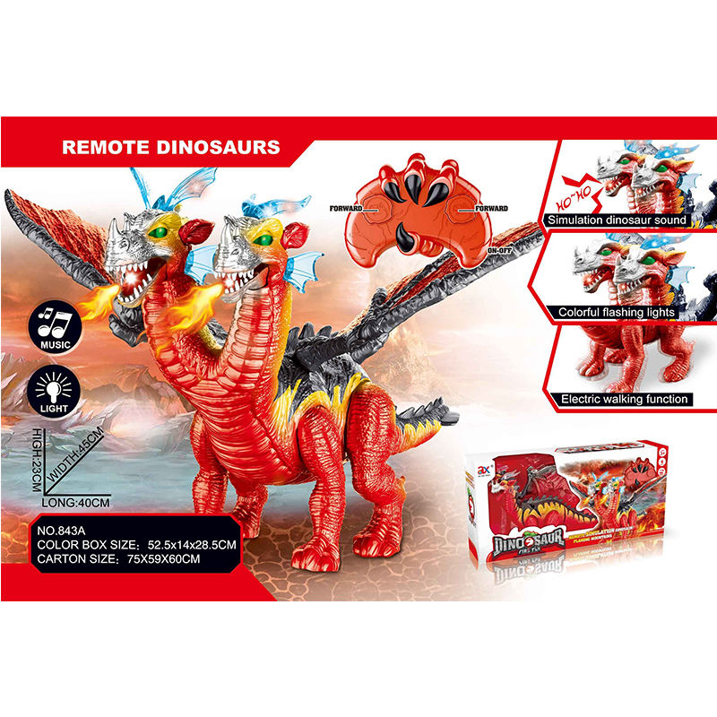 RC Spray walking plastic rubber dinosaur toys