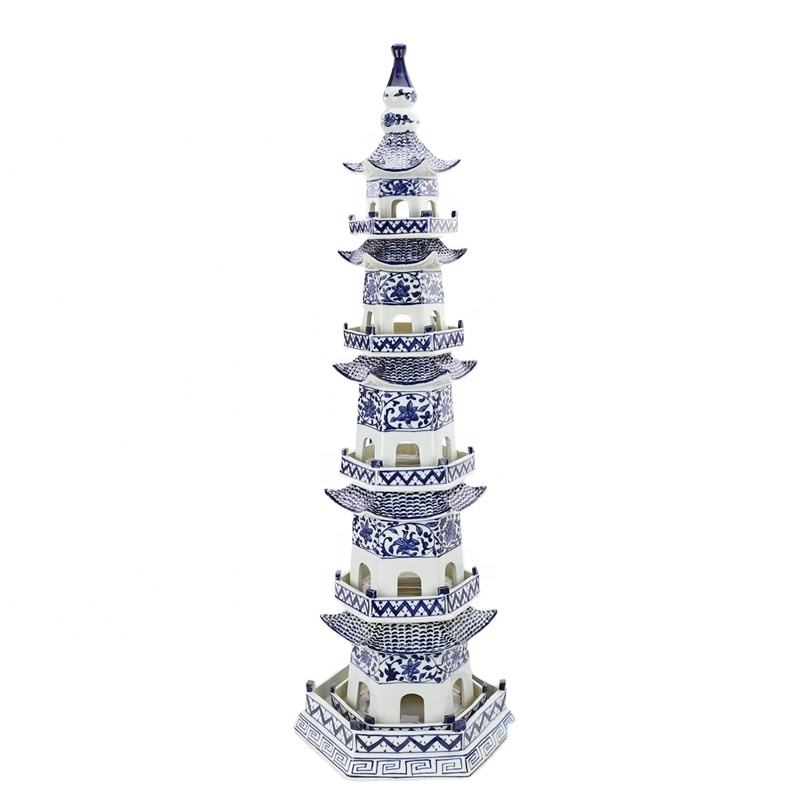 RZPI42 Chinese ancient times pure hand made ceramic decorative pagoda