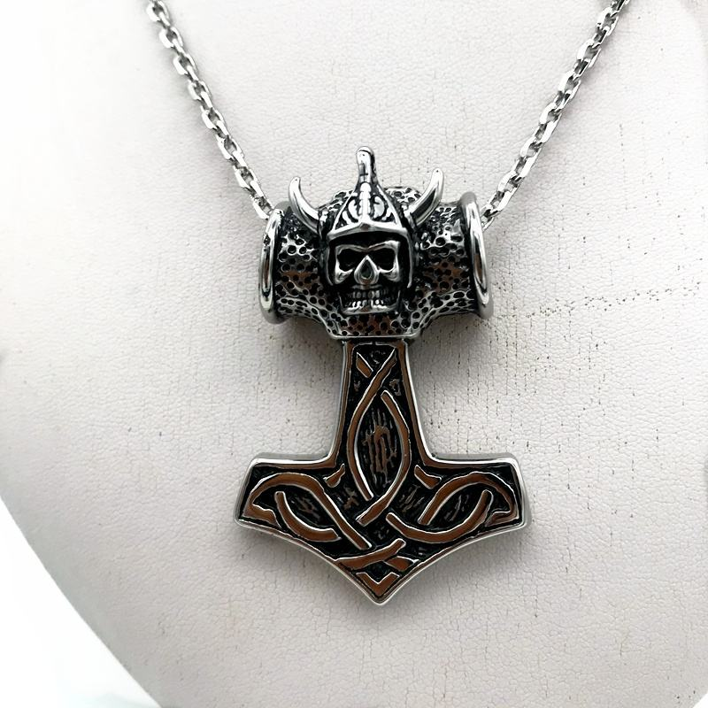 Men 2020 jewelry Stainless steel ghost head pendant necklace