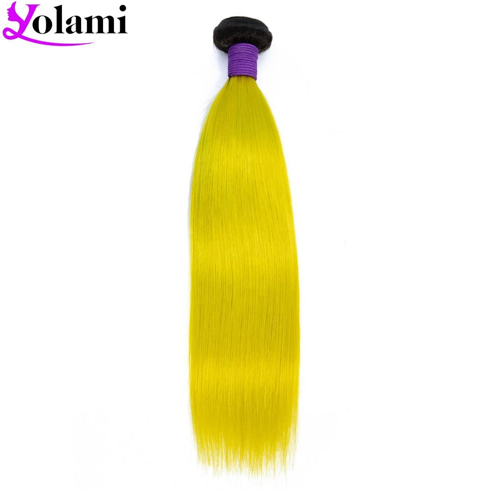 Paypal Accepted Online Stores Ombre 1B Yellow Classy Signature Virgin Malaysian Straight Remy Virgin Hair Bundles With Closure