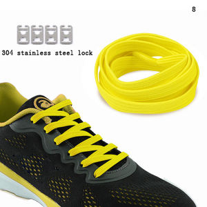 New Casual Flat Elastic Shoe Laces lazy elastic no-tie shoelaces