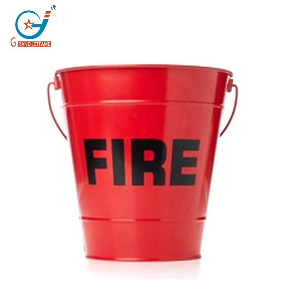 Metal fire bucket Galvanized fire fighting bucket Red fire pail