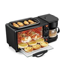 kitchenware 3 in 1 breakfast machine with toast oven  coffee pot frying pan
