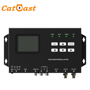 Digital CVBS HD H.264 FHD video encoding to DVB-T ISDB-T RF Wifi Encoder Modulator