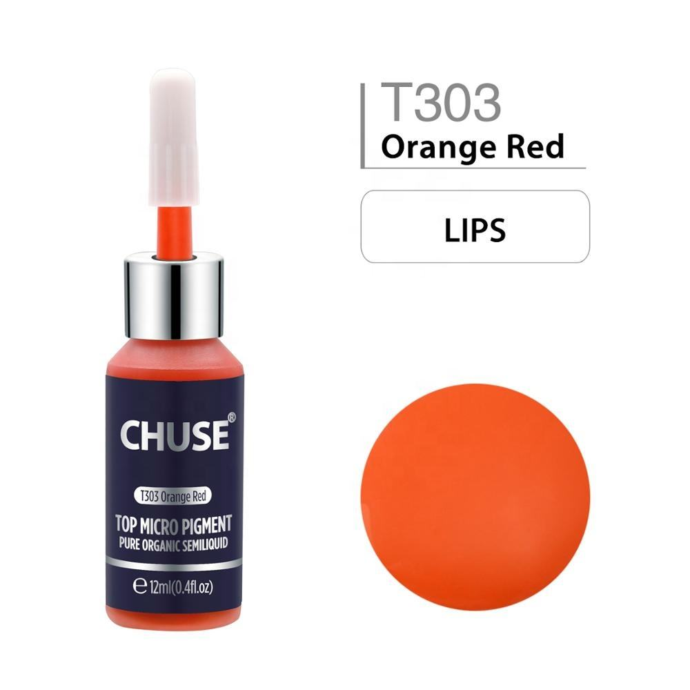 Wholesale Orange Red Pure Organic Tattoo Ink Pigment Professional For Lips PMU