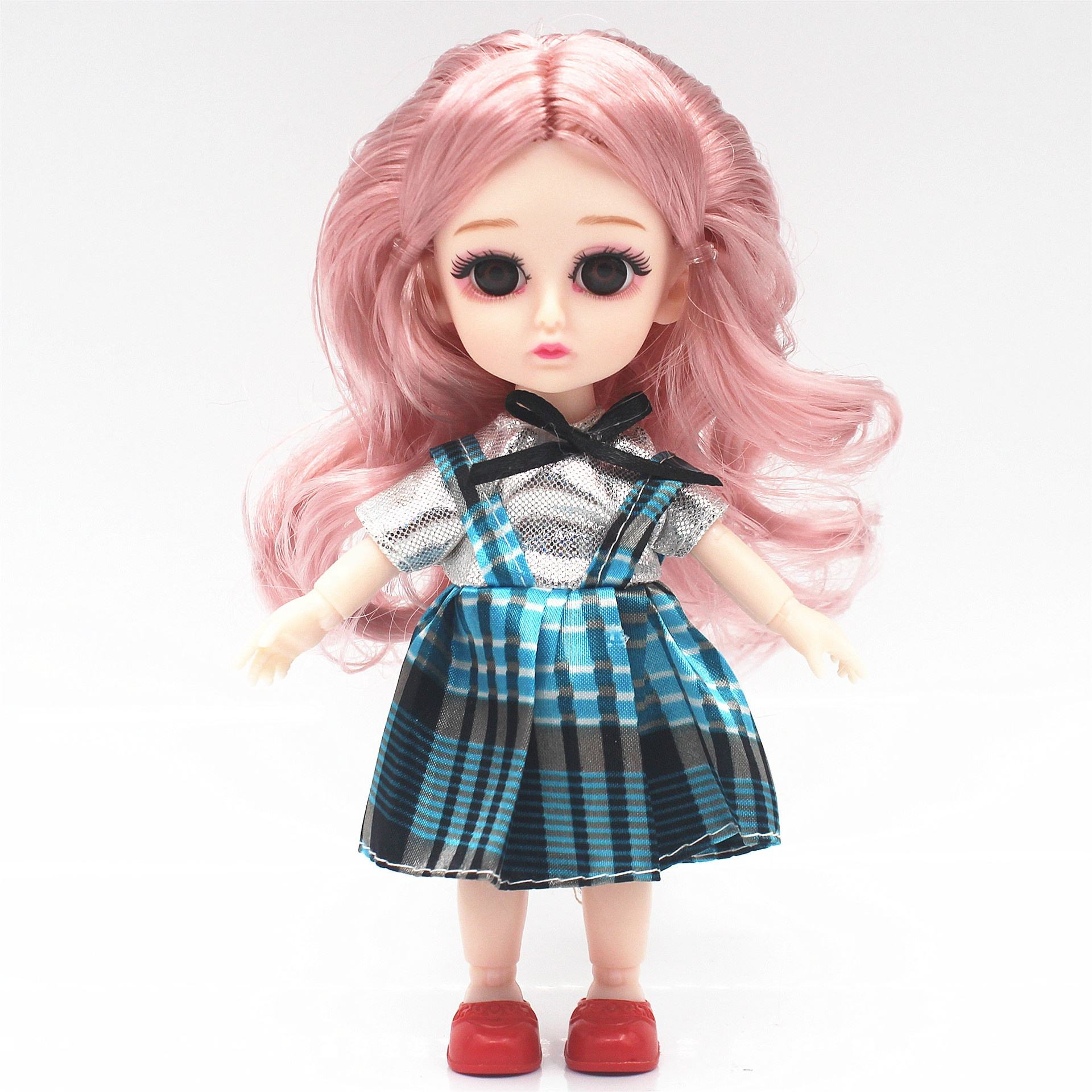 Good quality Diy 3D real eye Plastic 13 joint moveable BJD 16 cm doll