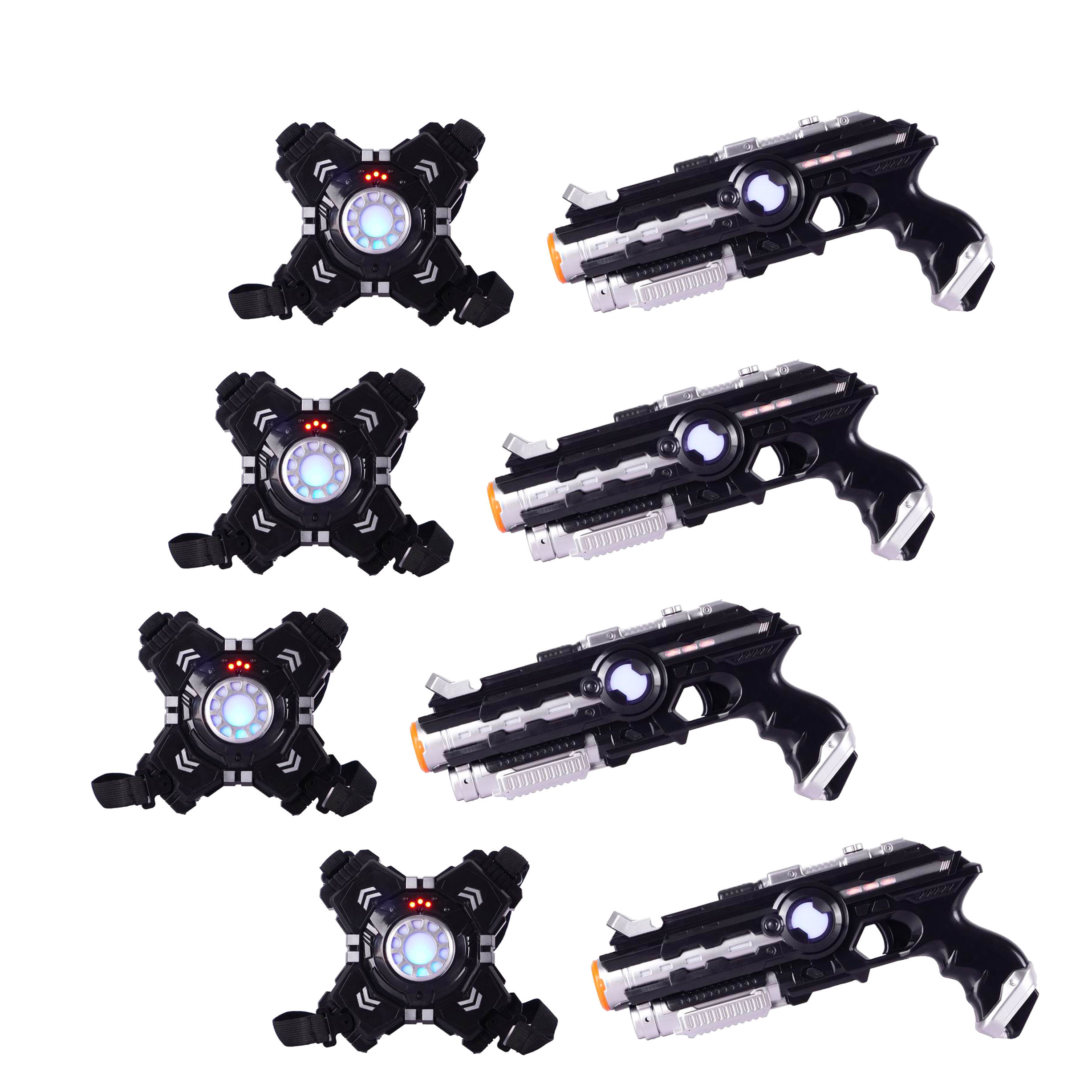 #Amazon hot selling toys 4 teams with vest induction shooting laser war game electric toys gun with laser light and sounds
