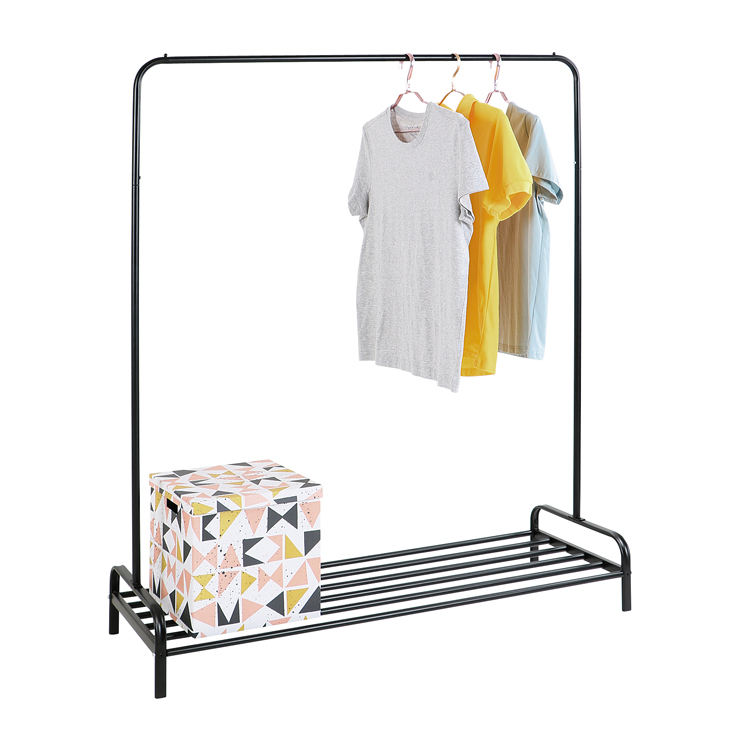 Amazon bestseller Single Pole suit hangers garment unique clothing clothes hanging iron stand rack with great price
