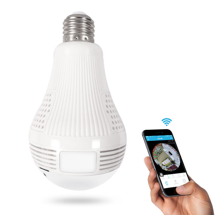 Surveillance Wifi 360 Degrees Led Light Bulb VR Security Lamp Hidden Camera