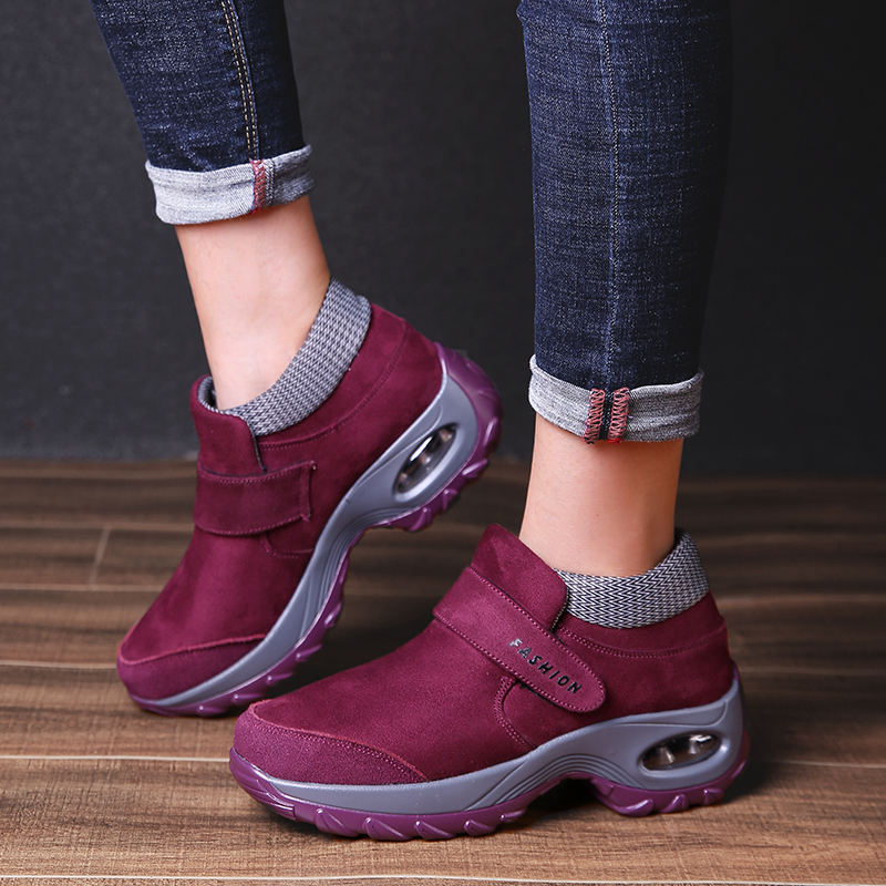 wholesale shoes 2020 ladies shoes Trainers Women Durable Outside Sneakers Female Platform Damping Comfortable Female Vulcanized