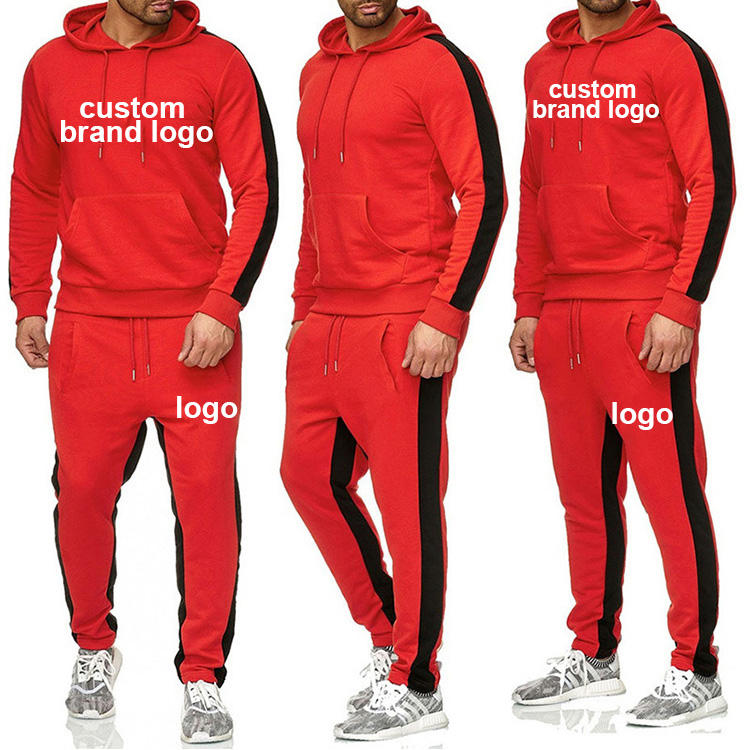 2020 Herbst Großhandel Männer Langarm Langhose Dick Warm Jogging Sweat Suits Zweiteiliges Set Casual Outfits Fitness Trainings anzug