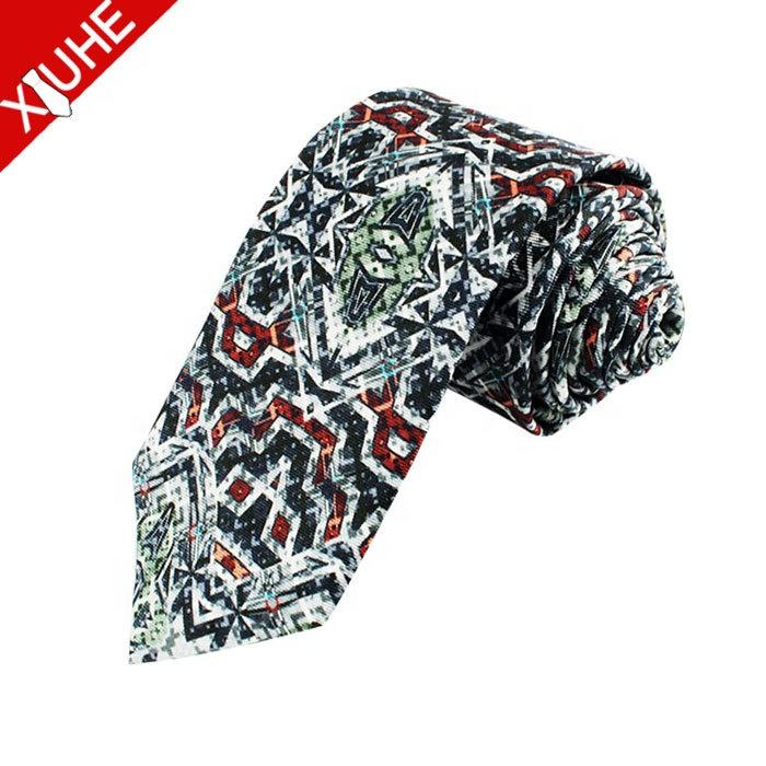 Custom Hot-sale 100% Silk Printed Tie Popular Men's logo Necktie Factory