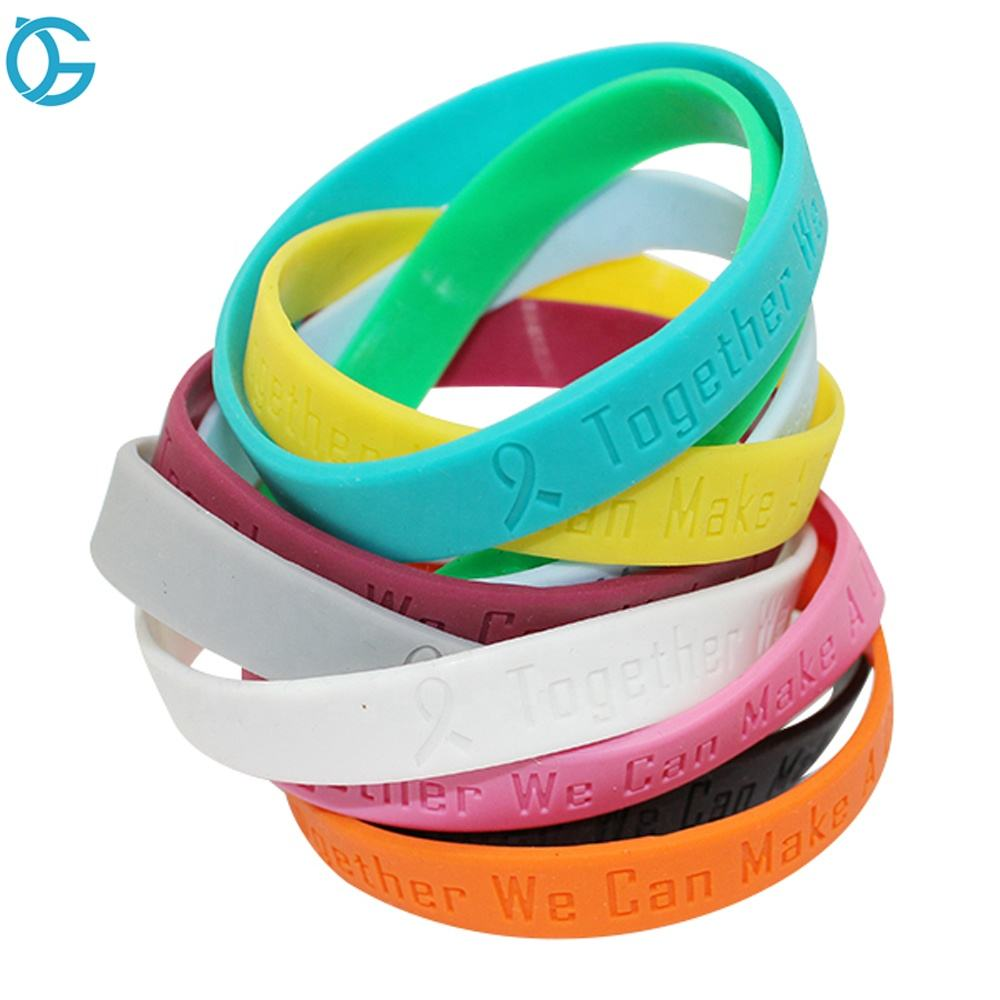 Eco-friendly Printed Custom Silicone Wristband Bracelet Wrist Band Motivational Wristband For Hand